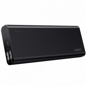 AUKEY PB-AT20 Black ultraszybki aluminiowy Power Bank | 20100 mAh | 3xUSB | 5.4A | Quick Charge 3.0 | kabel micro USB